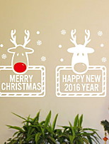 Недорогие -Декоративные наклейки на стены - Простые наклейки Животные / День Благодарения Гостиная / В помещении