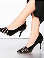 baratos -Mulheres Sapatos Couro Envernizado Primavera Conforto / Plataforma Básica Saltos Salto Agulha Dourado / Preto / Prata