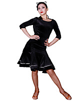 cheap -Latin Dance Tutus & Skirts Women's Training Polyamide / Corduroy Split Joint Natural Skirts