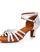 economico -Per donna Scarpe per balli latini Raso Sneaker Tacco cubano Personalizzabile Scarpe da ballo Bianco
