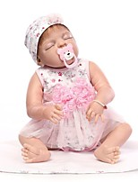 cheap -NPKCOLLECTION Reborn Doll Baby Girl 24 inch Full Body Silicone / Vinyl - lifelike Kid's Girls' Gift