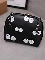 cheap -Women's Bags PU(Polyurethane) Shoulder Bag Zipper Black / Beige