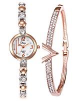baratos -Mulheres Relógio Elegante / Bracele Relógio Chinês Criativo Aço Inoxidável Banda Elegante Prata