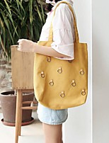 cheap -Women's Bags Canvas Shoulder Bag Zipper Blushing Pink / Gray / Yellow