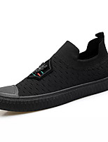 cheap -Men's Shoes Knit / Elastic Fabric Summer Comfort Loafers & Slip-Ons Black