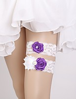 cheap -Lace Wedding / Lace Wedding Garter 617 Flower Garters Wedding / Special Occasion