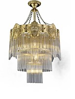 cheap -QIHengZhaoMing 8-Light Crystal Chandelier Ambient Light 110-120V / 220-240V, Warm White, Bulb Included / 15-20㎡
