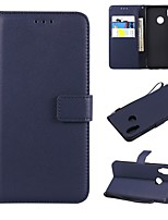 cheap -Case For Huawei P20 / P20 Pro Wallet / Card Holder / Flip Full Body Cases Solid Colored Hard PU Leather for Huawei P20 / Huawei P20 Pro / Huawei P20 lite