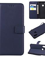 Недорогие -Кейс для Назначение Huawei P20 / P20 Pro Кошелек / Бумажник для карт / Флип Чехол Однотонный Твердый Кожа PU для Huawei P20 / Huawei P20 Pro / Huawei P20 lite