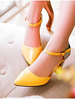 cheap -Women's Shoes PU(Polyurethane) Summer Comfort Heels Stiletto Heel White / Black / Yellow