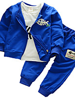 cheap -Toddler Boys' Solid Colored Long Sleeve Clothing Set