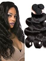 cheap -Brazilian Hair Wavy Natural Color Hair Weaves / Extension / Bundle Hair 4 Bundles 8-28 inch Human Hair Weaves Machine Made Hot Sale Natural Black Human Hair Extensions Women's