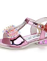 cheap -Girls' Shoes PU(Polyurethane) Summer Comfort / Flower Girl Shoes Sandals Walking Shoes Sparkling Glitter for Kids Gold / Pink