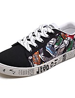cheap -Men's Canvas Spring &  Fall / Summer Comfort Sneakers Color Block White / Black / Red