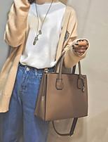 cheap -Women's Bags PU(Polyurethane) Tote Zipper Black / Khaki