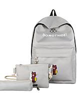 cheap -Women's Bags Canvas Bag Set 3 Pcs Purse Set Pattern / Print / Zipper Black / Blushing Pink / Gray