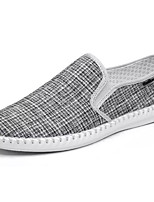 cheap -Men's Shoes Canvas Summer Comfort Loafers & Slip-Ons White / Black