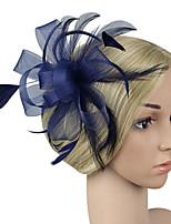 cheap -Women's Fashion / Elegant Hair Clip / Fascinator - Solid Colored Bow / Mesh