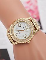 Недорогие -L.WEST Жен. Наручные часы Китайский Повседневные часы / Имитация Алмазный сплав Группа На каждый день / Мода Серебристый металл /