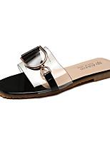 cheap -Women's Shoes PU(Polyurethane) Summer Slingback Slippers & Flip-Flops Flat Heel White / Black / Pink