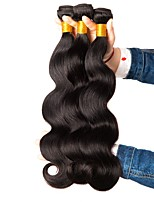 cheap -Indian Hair Wavy Natural Color Hair Weaves / Extension 3 Bundles 8-28 inch Human Hair Weaves Machine Made Hot Sale / 100% Virgin Natural Black Human Hair Extensions Women's