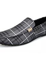 abordables -Homme Chaussures Toile Eté Moccasin Mocassins et Chaussons+D6148 Blanc / Noir / Gris / Rayé