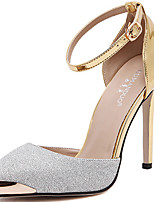 cheap -Women's Shoes Faux Leather Spring & Summer Basic Pump Heels Stiletto Heel Gold / Silver / Party & Evening