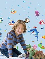 baratos -Autocolantes de Parede Decorativos - Autocolantes de Aviões para Parede Animais Banheiro