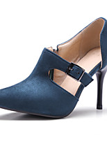 cheap -Women's Shoes Suede Spring / Fall Basic Pump Heels Stiletto Heel Pointed Toe Black / Blue / Wine / Party & Evening