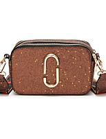 cheap -Women's Bags PU(Polyurethane) Shoulder Bag Zipper Black / Gray / Dark Brown