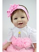 economico -NPKCOLLECTION Bambole Reborn Bambine 24 pollice Silicone - realistico, Occhi marroni di impianto artificiale Per bambino Da ragazza Regalo