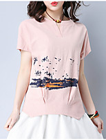 cheap -Women's Basic / Street chic T-shirt - Solid Colored / Color Block Print