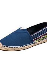 Недорогие -Муж. обувь Лён Лето Эспадрильи Мокасины и Свитер Для прогулок Зеленый / Синий