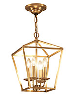 cheap -ZHISHU 4-Light Geometric / Mini Chandelier Ambient Light - Mini Style, 110-120V / 220-240V Bulb Not Included