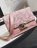 cheap -Women's Bags PU(Polyurethane) Shoulder Bag Zipper White / Black / Blushing Pink