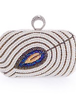 cheap -Women's Bags Polyester Evening Bag Crystals / Pearls Champagne / White / Black