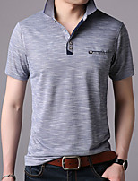 cheap -Men's Business Polo - Solid Colored