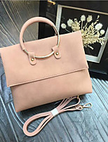 cheap -Women's Bags Suede Tote Zipper Gray / Yellow / Almond