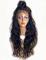 cheap -Remy Human Hair Full Lace Wig Brazilian Hair Natural Wave Wig Layered Haircut 130% With Baby Hair / Natural Hairline Black Women's Long Human Hair Lace Wig