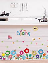 abordables -Autocollants muraux décoratifs - Autocollants avion A fleurs / Botanique Chambre des enfants