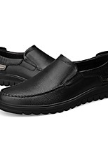 cheap -Men's Shoes Cowhide Spring Comfort Loafers & Slip-Ons Black / Brown