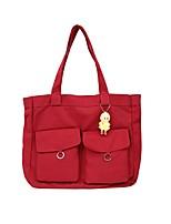 cheap -Women's Bags Canvas Tote Buttons Red / Beige / Yellow