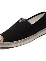 abordables -Homme Chaussures Lin Automne Confort Mocassins et Chaussons+D6148 Noir / Beige