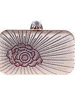 cheap -Women's Bags Polyester Evening Bag Crystals Champagne / Black / Silver