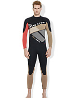 cheap -Dive&Sail Men's Full Wetsuit 3mm SBR Neoprene Diving Suit High Elasticity Long Sleeve Back Zip Solid Colored Winter