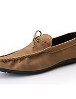 abordables -Homme Chaussures Polyuréthane Eté Moccasin / Chaussures de plongée Mocassins et Chaussons+D6148 Noir / Gris / Kaki