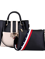 cheap -Women's Bags PU(Polyurethane) Bag Set 2 Pieces Purse Set Buttons Black / Red / Blushing Pink