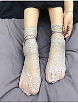 cheap -1 Pair Women's Socks Lace Promotes Good Mood Sweet Style Polyester EU36-EU42