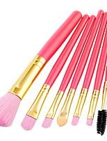 economico -7 pz Pennelli per il trucco Professionale Set di pennelli Fibra di nilon Ecologico / Soffice Legno / bambù