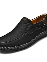 cheap -Men's Shoes Suede / Cowhide Spring Comfort Loafers & Slip-Ons Black / Brown / Khaki